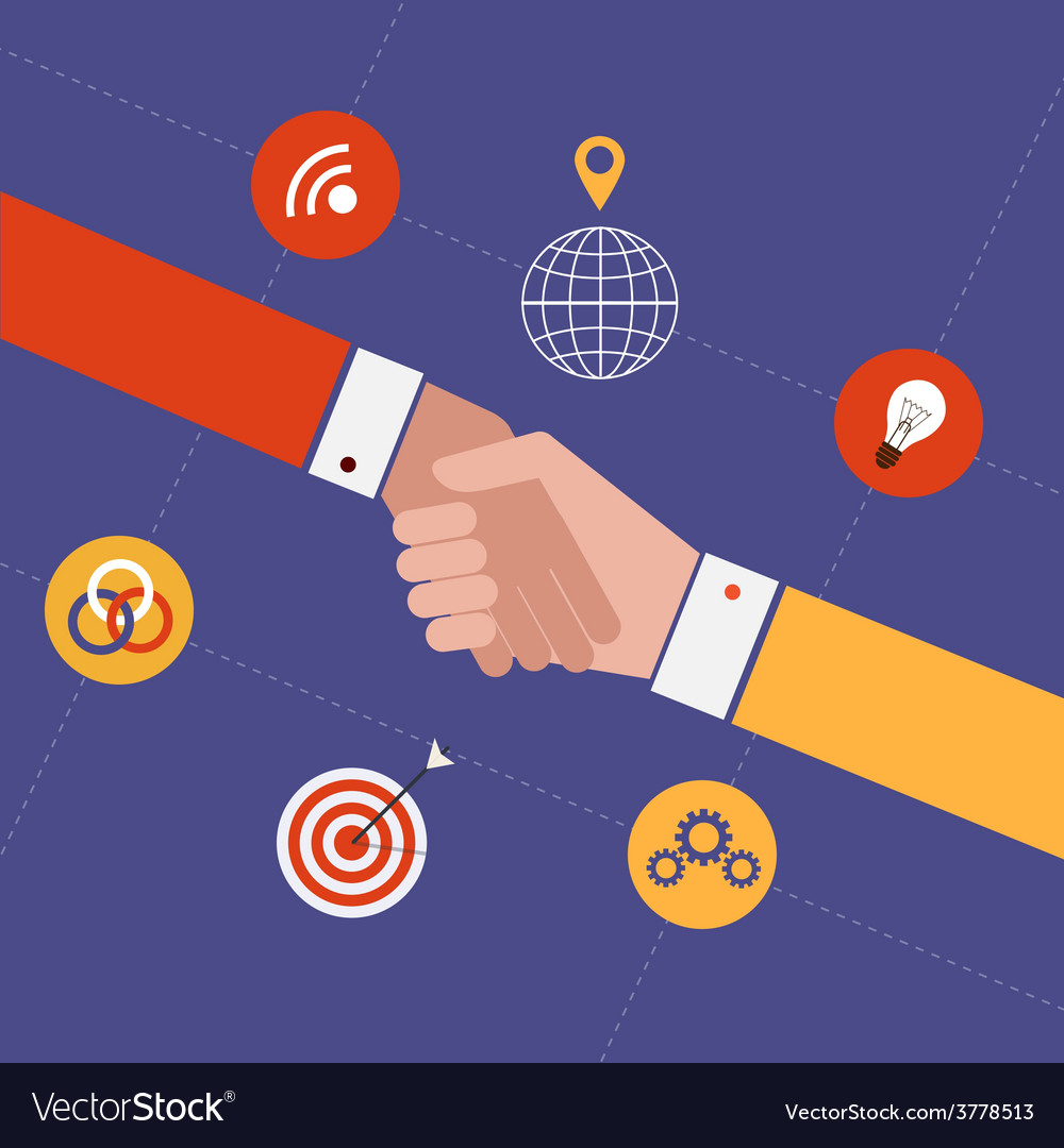 Concept for partnership and team work vector | Price: 1 Credit (USD $1)