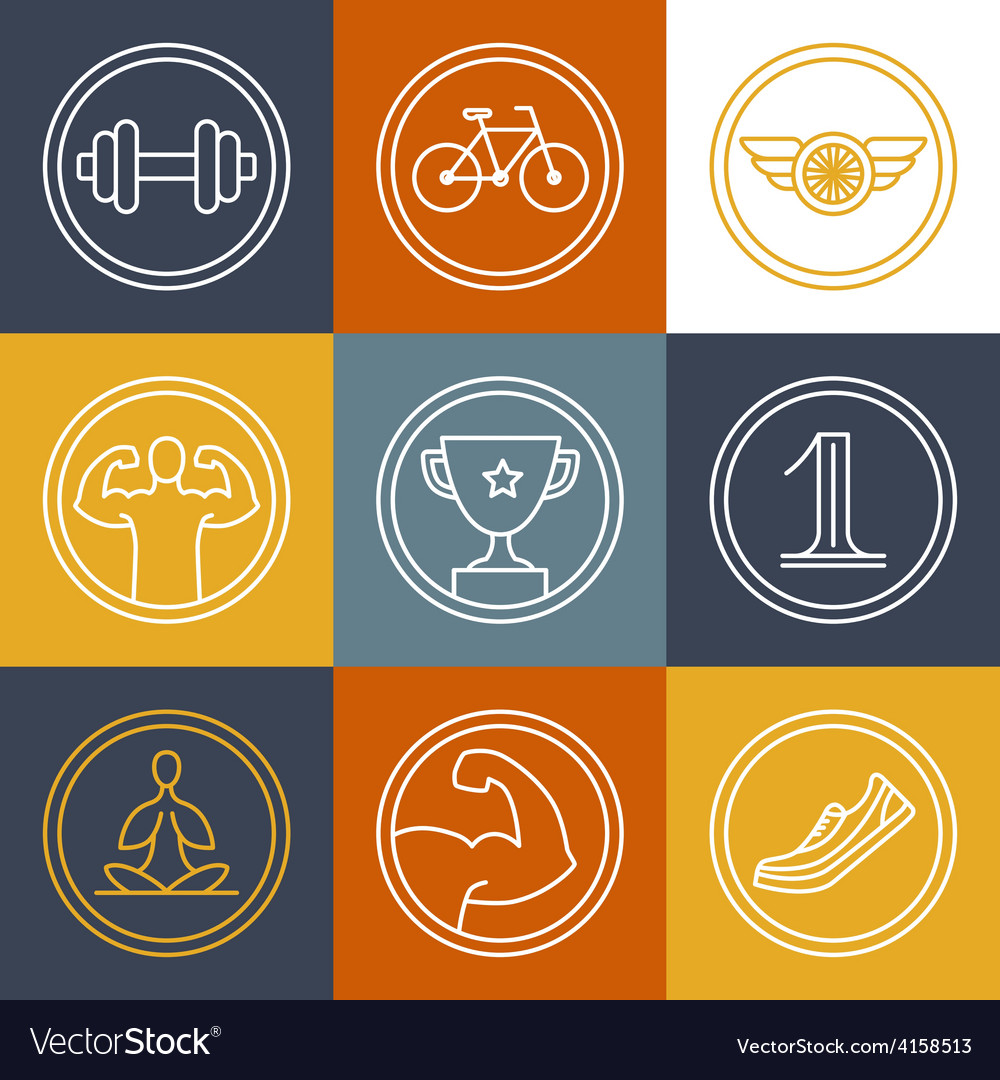 Crossfit and fitness logos and emblems vector | Price: 1 Credit (USD $1)