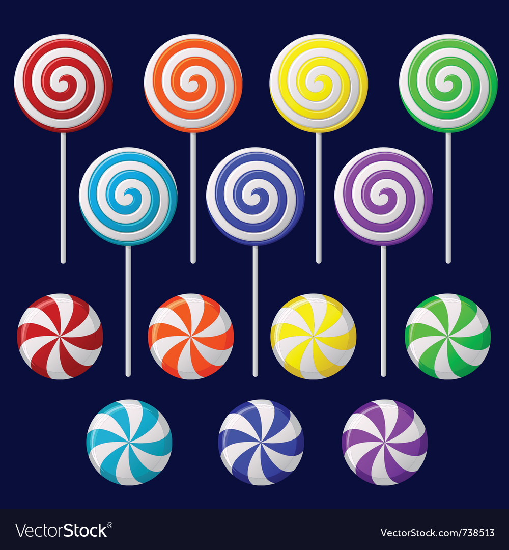 Delicious lollipop collection vector | Price: 1 Credit (USD $1)