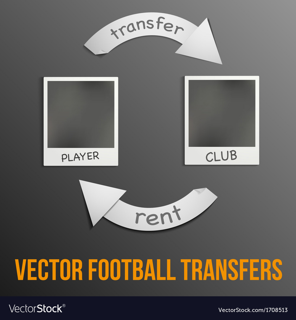 Football transfers vector | Price: 1 Credit (USD $1)