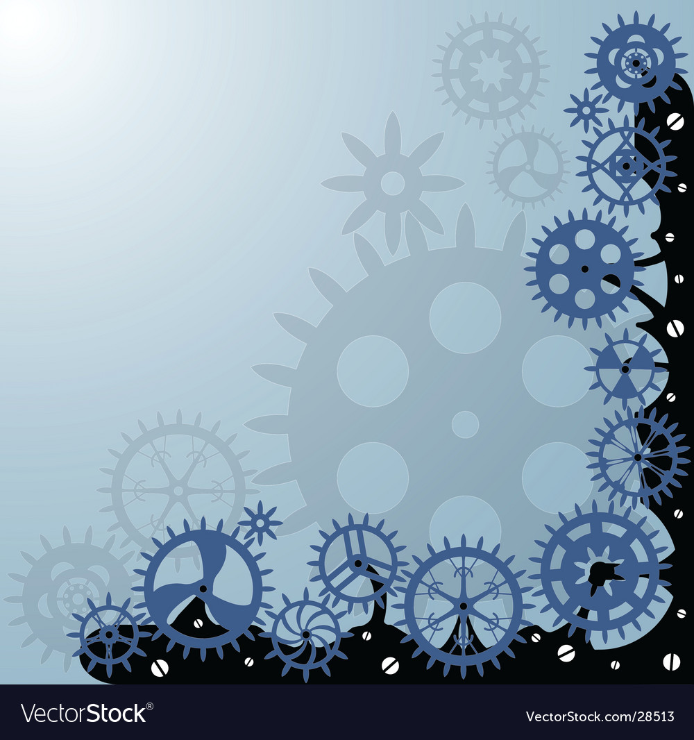 Gearwheels background vector | Price: 1 Credit (USD $1)