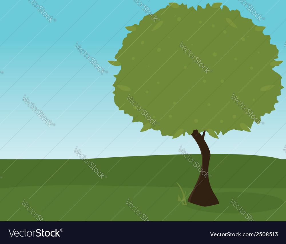 Green tree outdoors 2 vector | Price: 1 Credit (USD $1)
