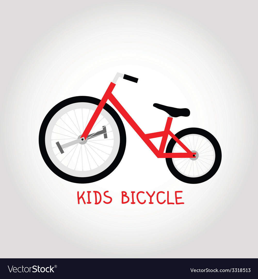Kids bicycle vector | Price: 1 Credit (USD $1)
