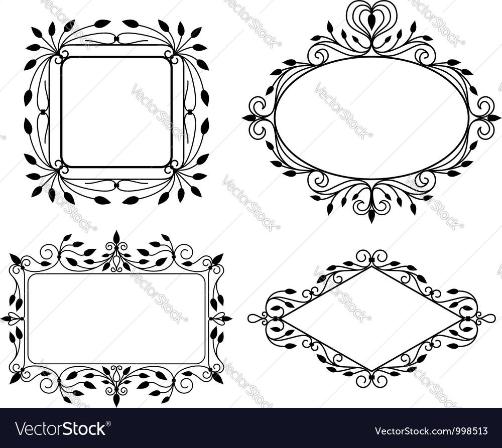 Vintage graphic frames vector | Price: 1 Credit (USD $1)