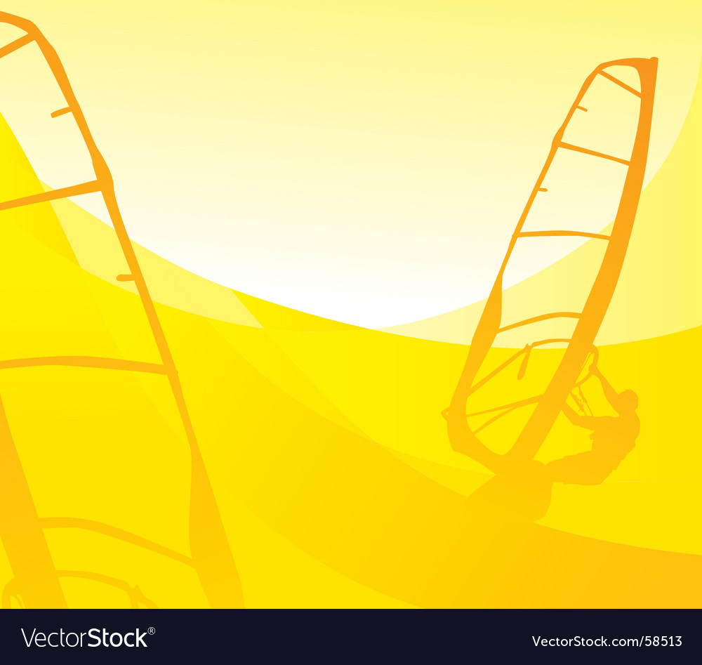 Windsurfing vector | Price: 1 Credit (USD $1)