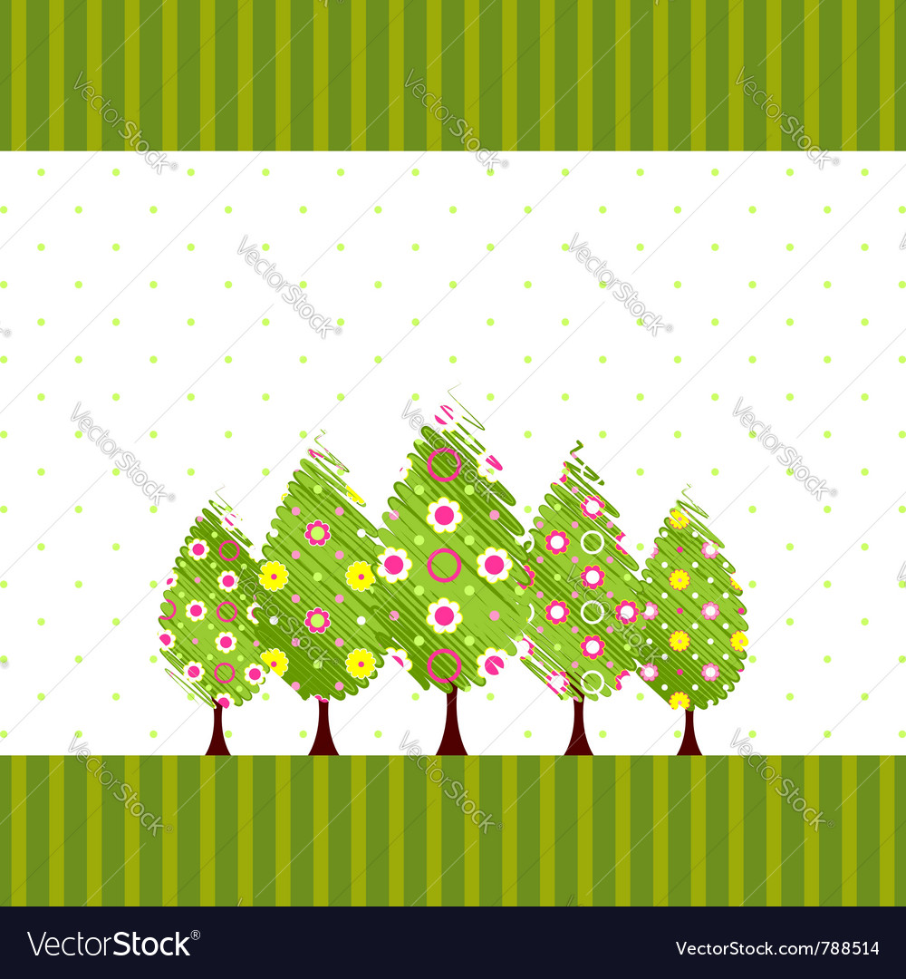 Abstract springtime blossom tree vector | Price: 1 Credit (USD $1)