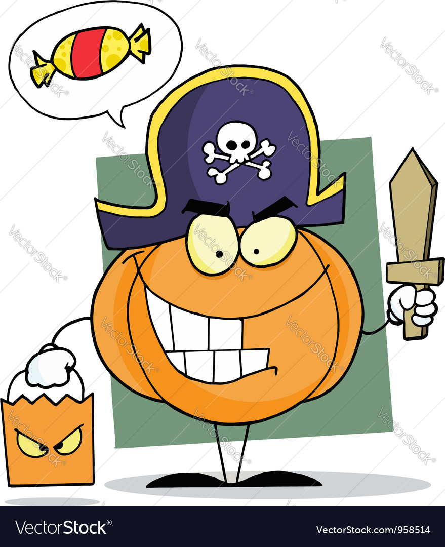 Cartoon character halloween pumkin vector | Price: 1 Credit (USD $1)