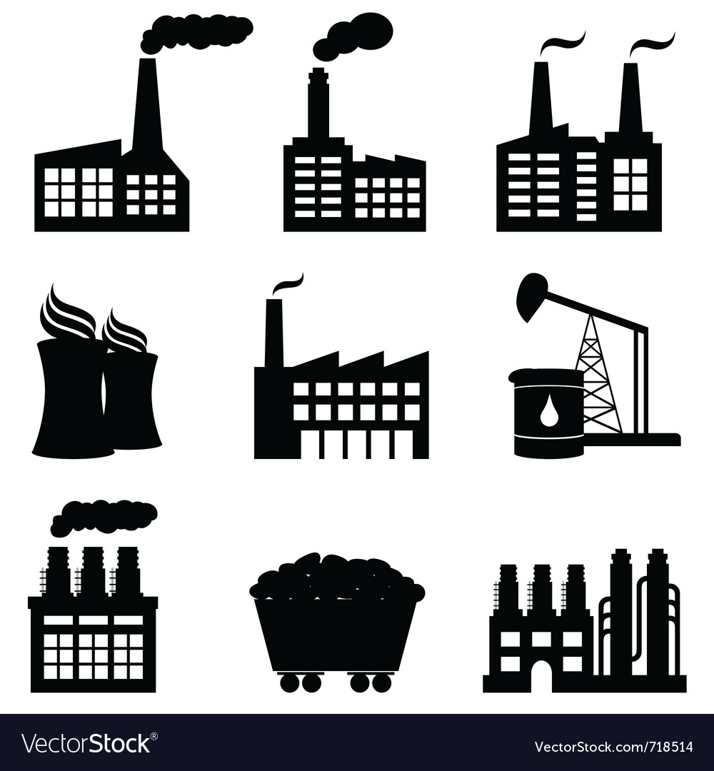 Factories vector | Price: 1 Credit (USD $1)