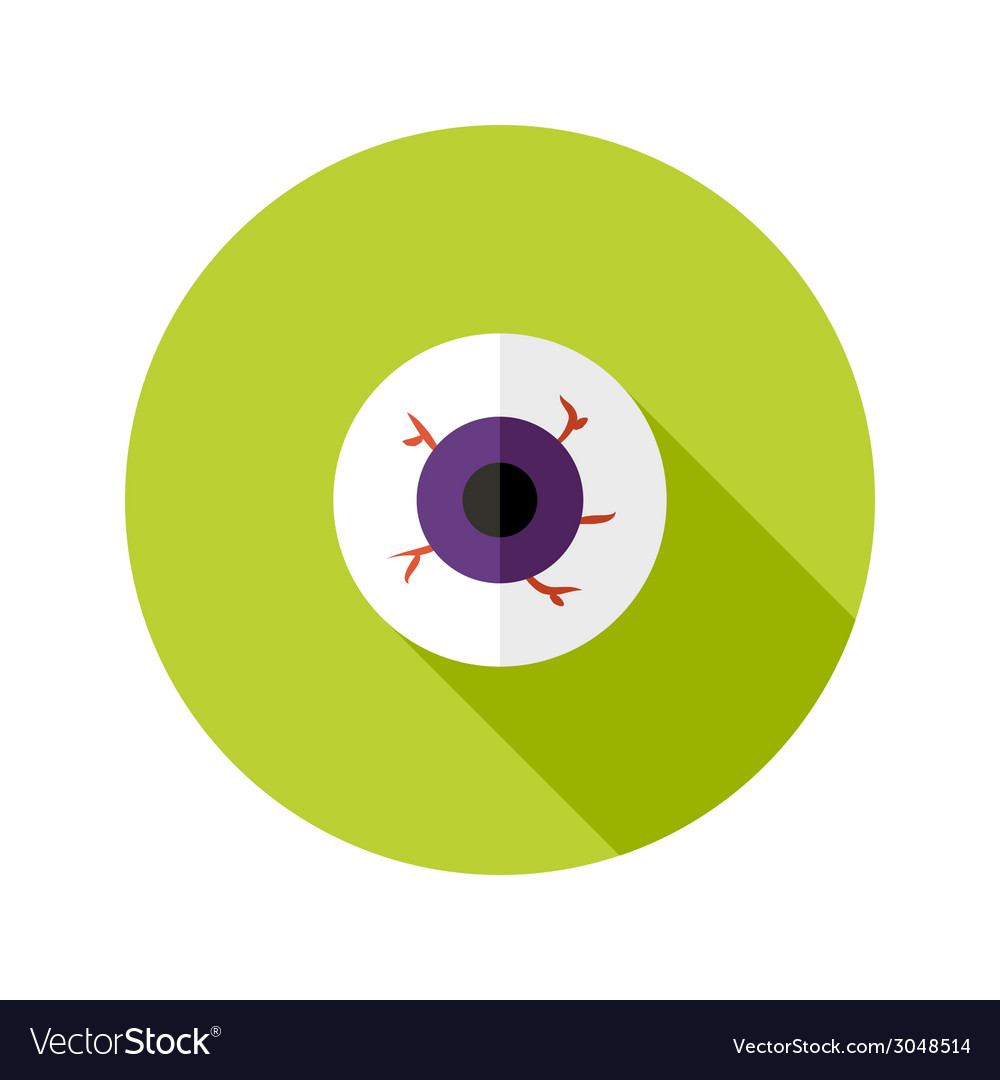 Halloween eyeball flat icon vector | Price: 1 Credit (USD $1)
