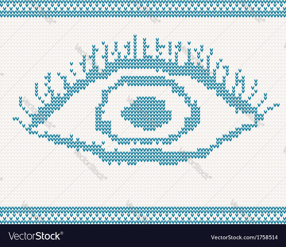 Knitted eye vector | Price: 1 Credit (USD $1)