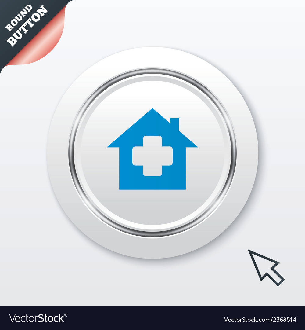Medical hospital sign icon home medicine symbol vector | Price: 1 Credit (USD $1)