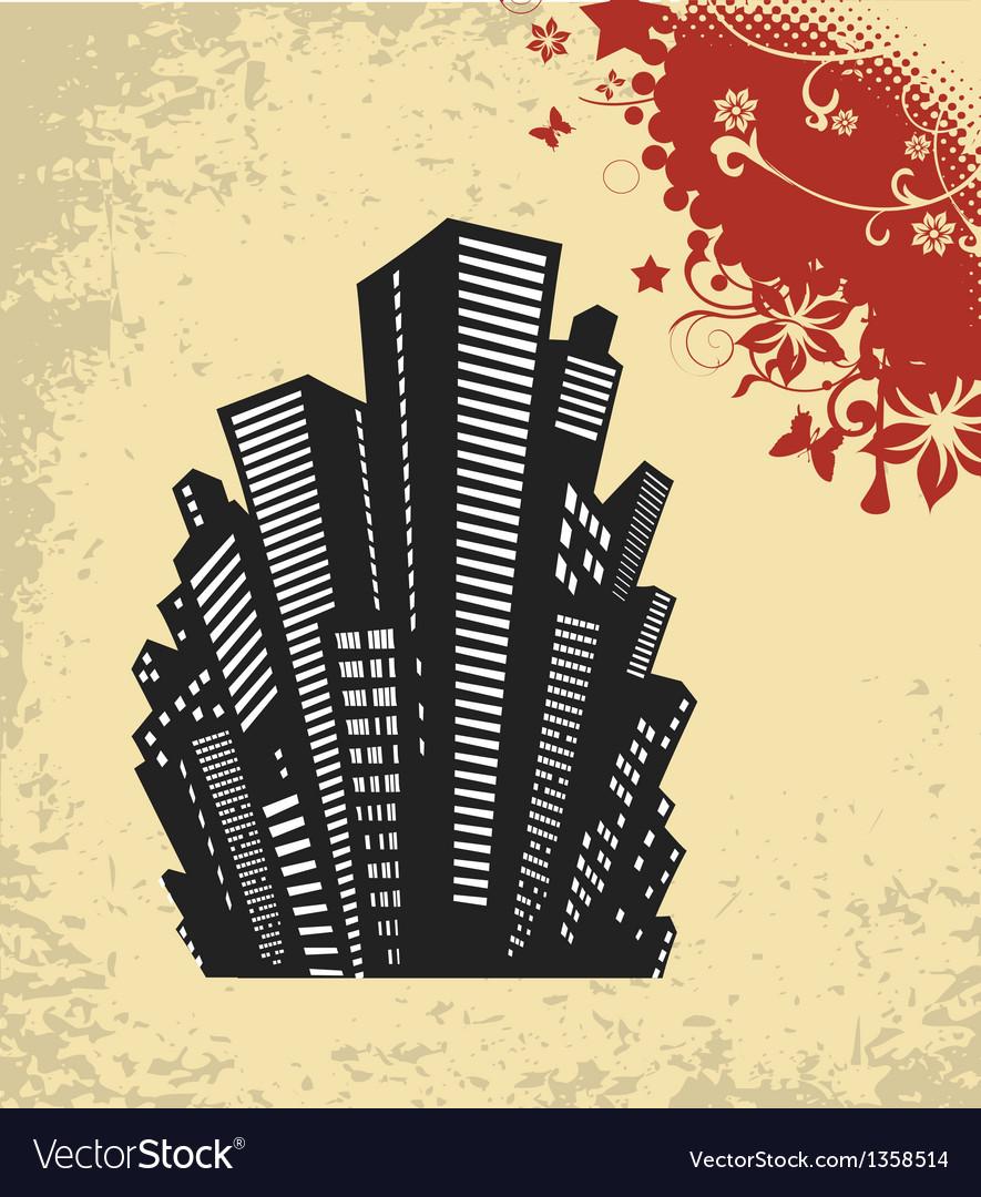 Retro city vector