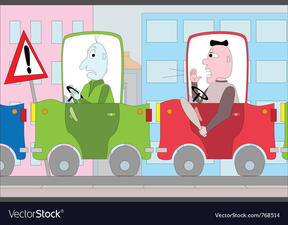 Traffic jam vector | Price: 1 Credit (USD $1)