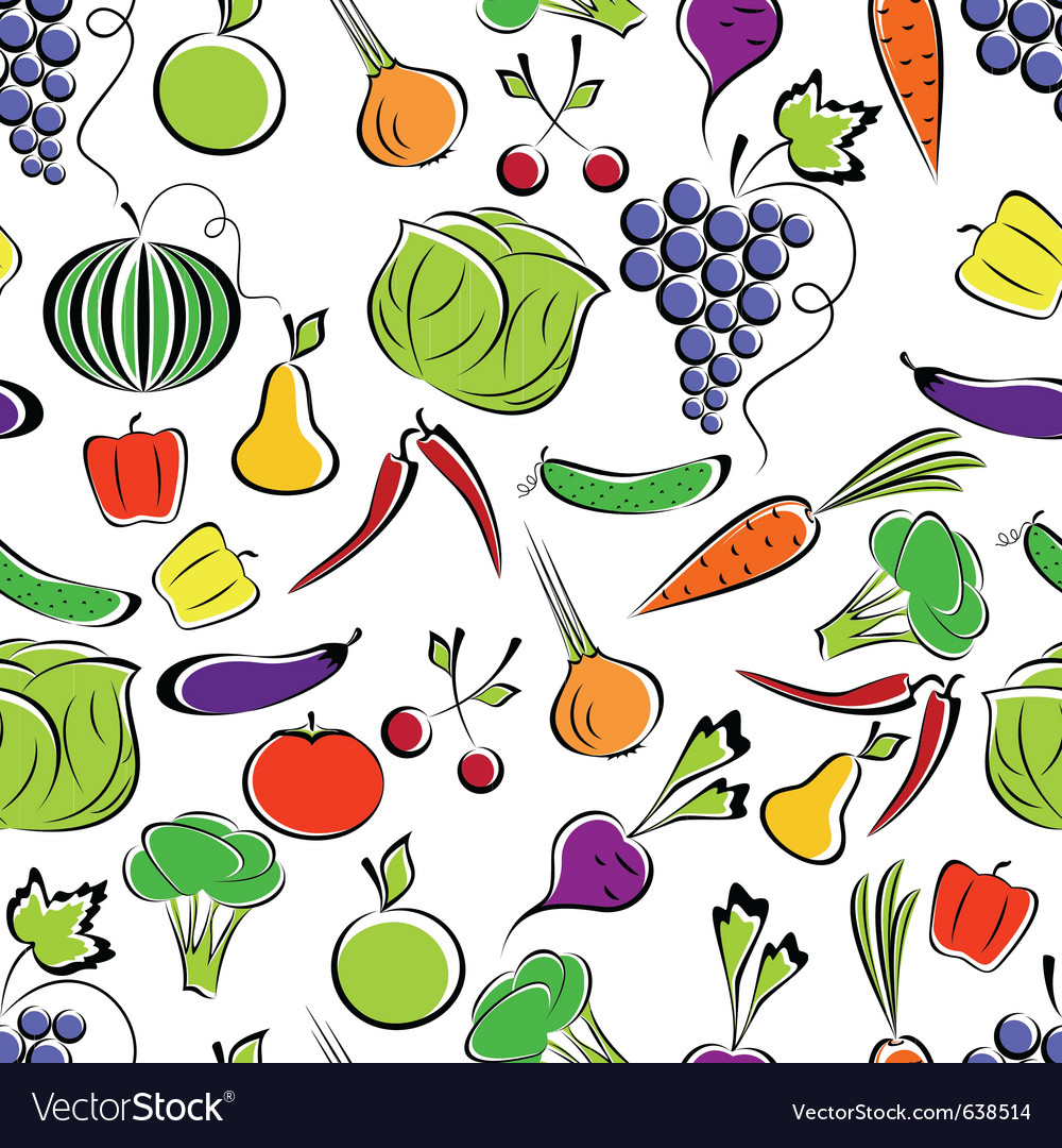 Vegetables and fruit vector | Price: 1 Credit (USD $1)