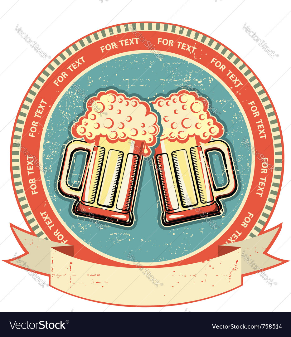 Vintage beer label vector | Price: 1 Credit (USD $1)