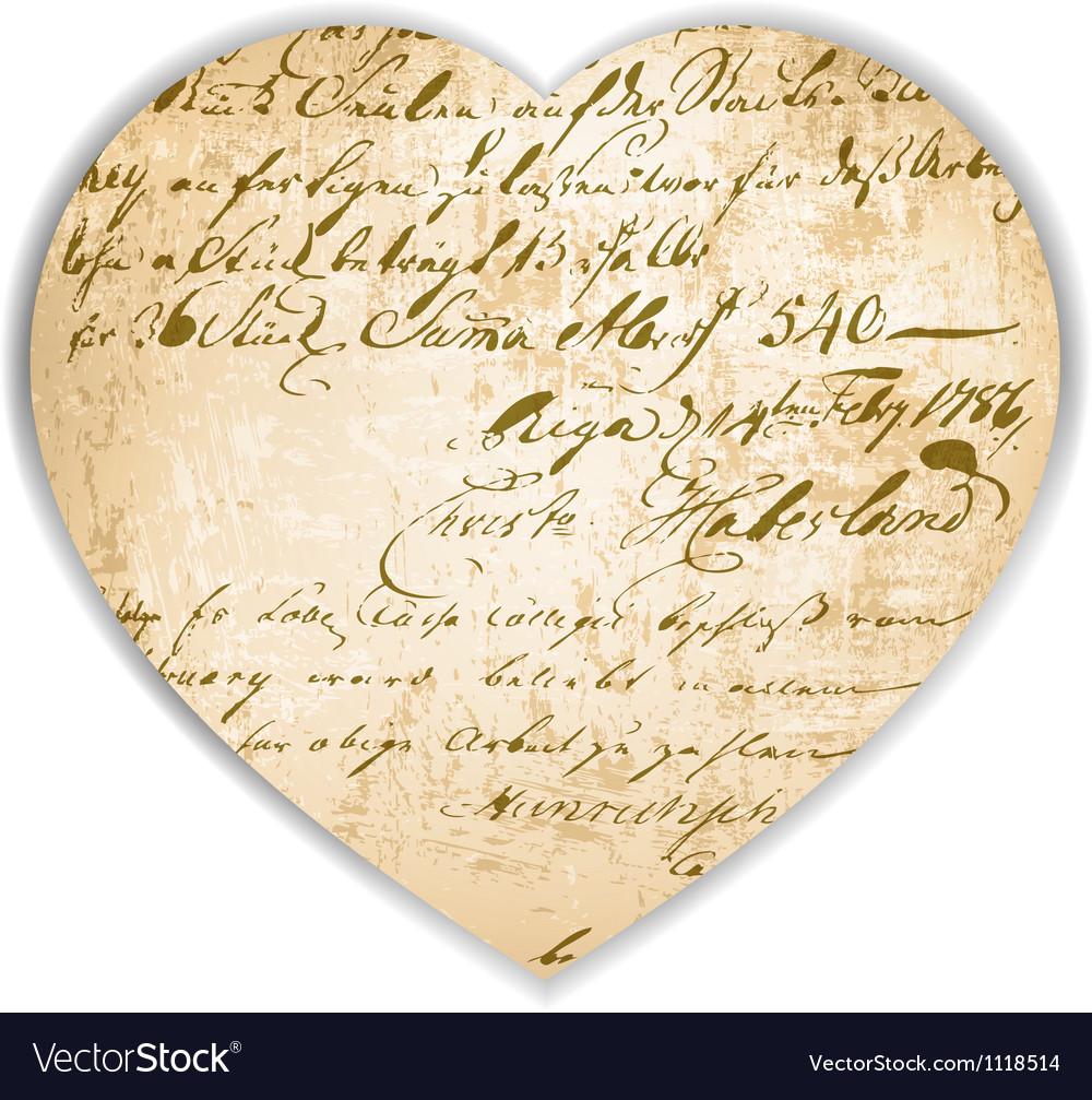 Vintage heart vector | Price: 1 Credit (USD $1)