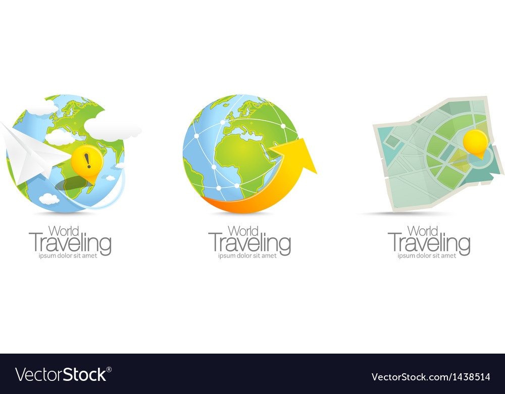 World map icons vector | Price: 1 Credit (USD $1)