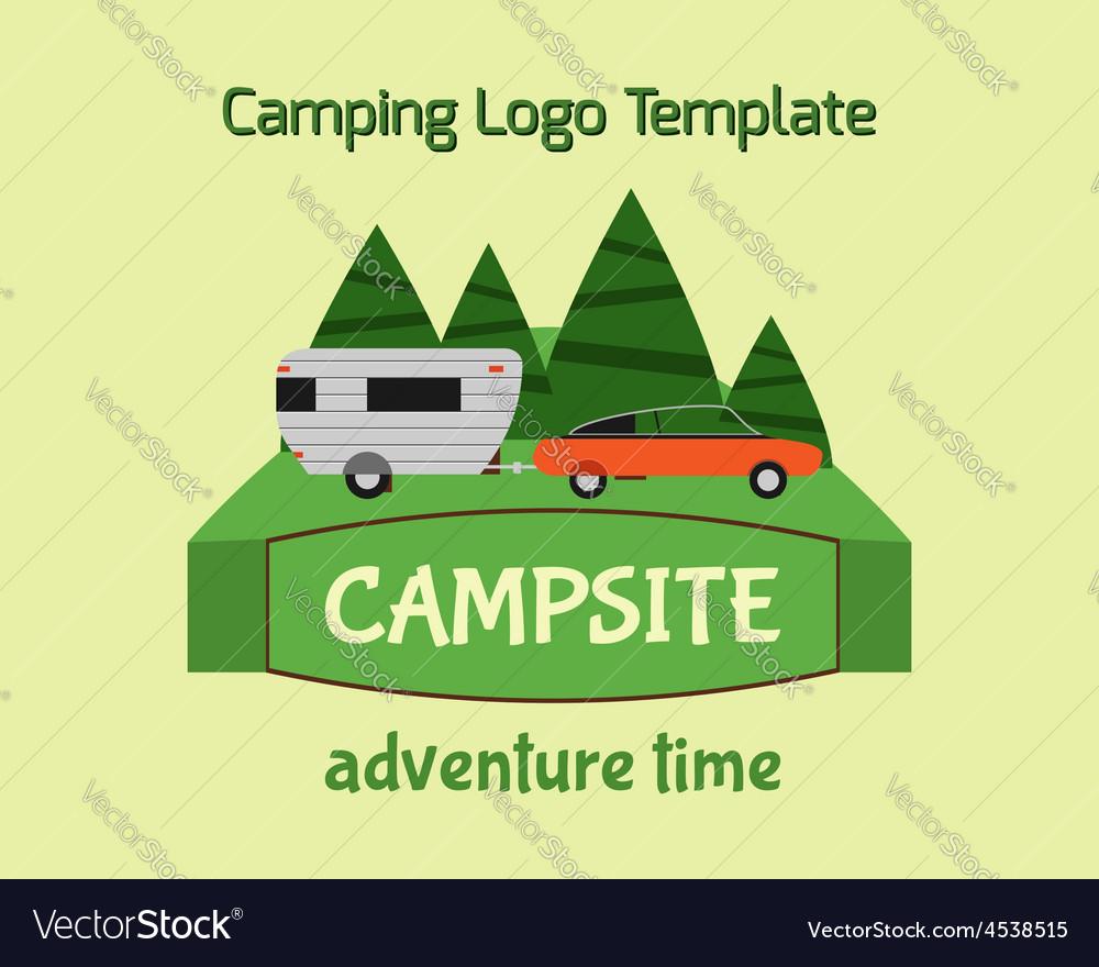 Adventure tourism travel logo vintage labels vector | Price: 1 Credit (USD $1)