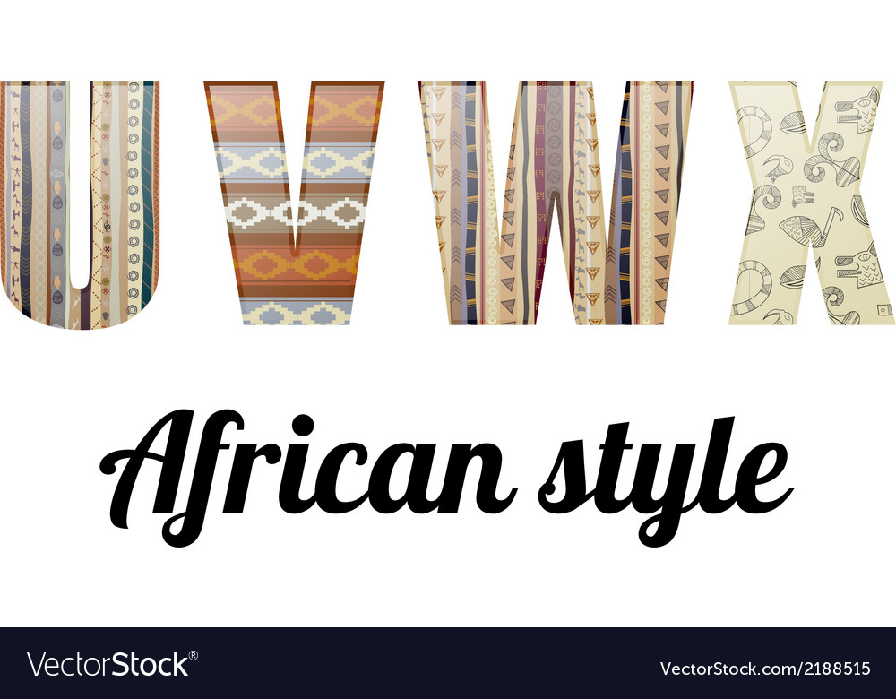 Alphabet in the african style vector | Price: 1 Credit (USD $1)