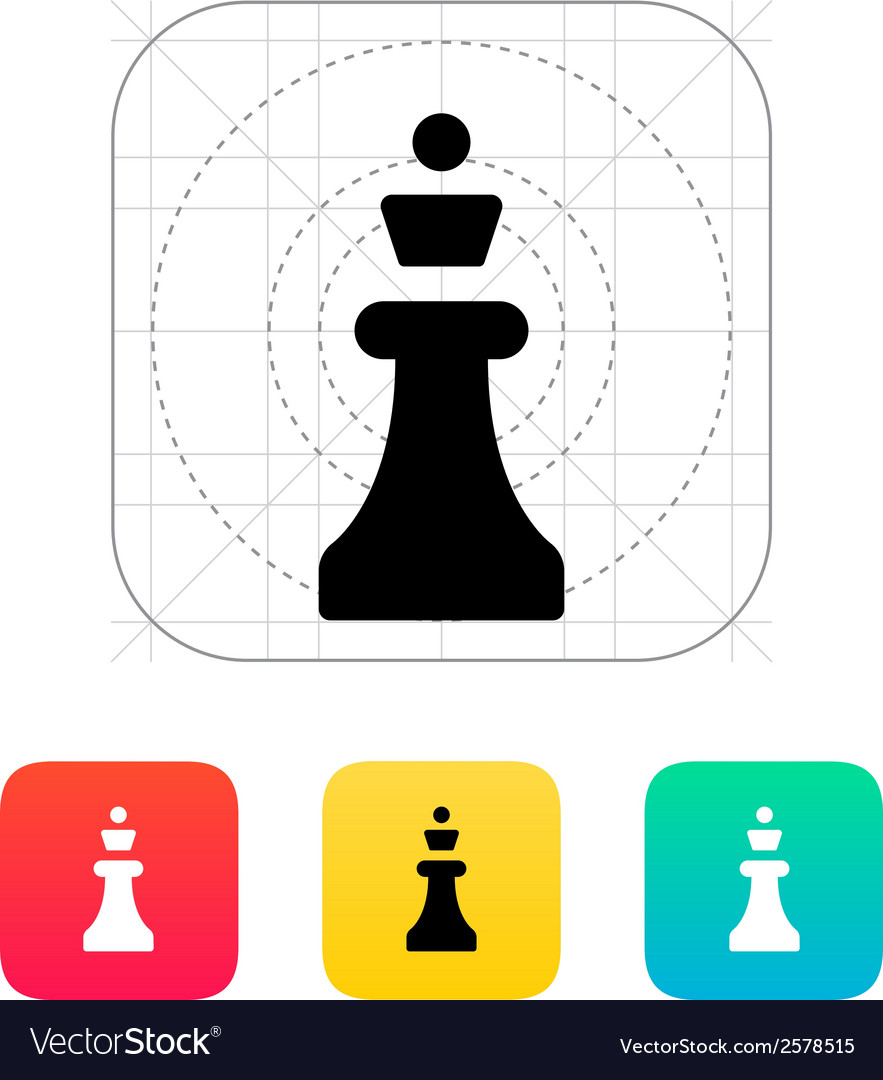 Chess queen icon vector | Price: 1 Credit (USD $1)
