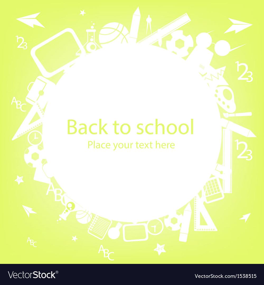 Colorful school icons vector | Price: 1 Credit (USD $1)