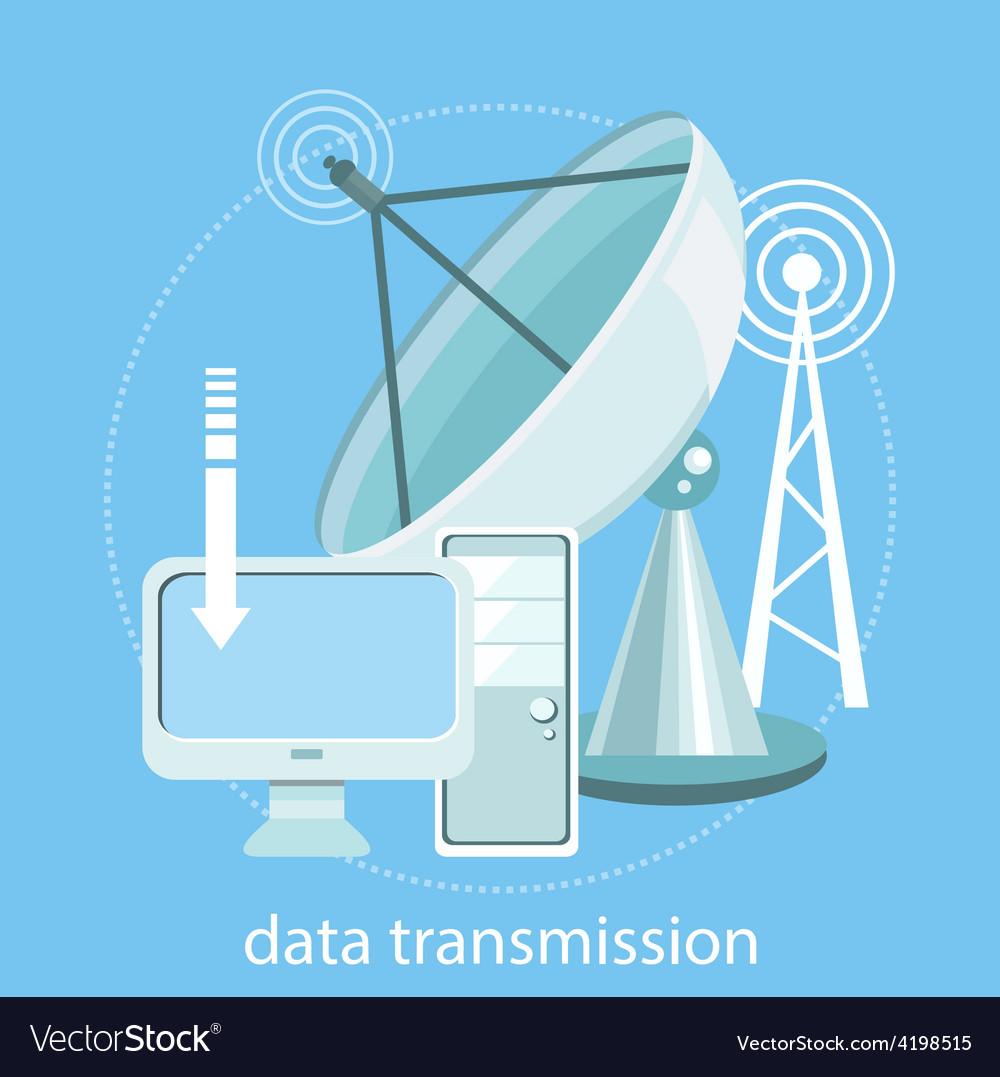 Data transmission vector | Price: 1 Credit (USD $1)