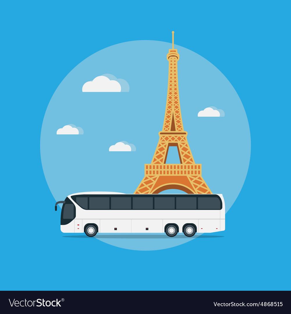 Paris travel vector