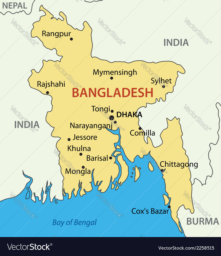 Peoples republic of bangladesh - map vector | Price: 1 Credit (USD $1)