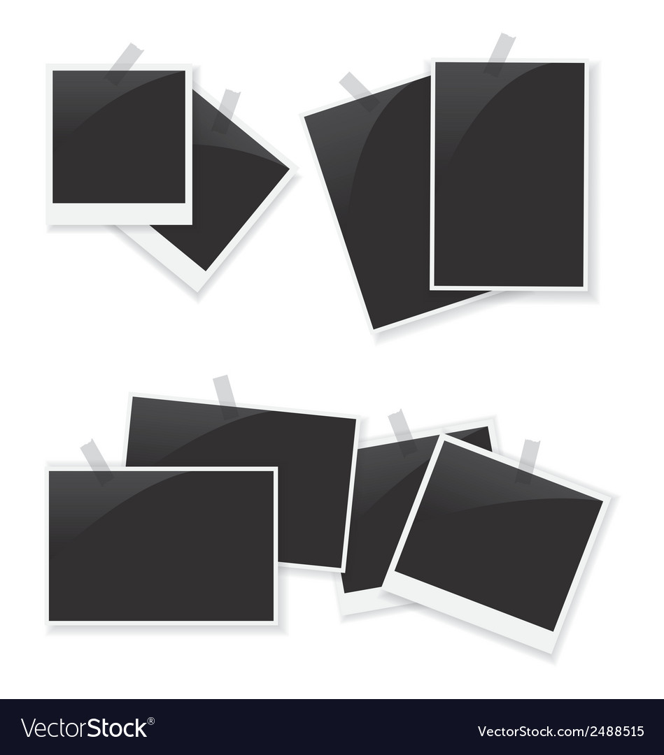 Photo frame set vector | Price: 1 Credit (USD $1)