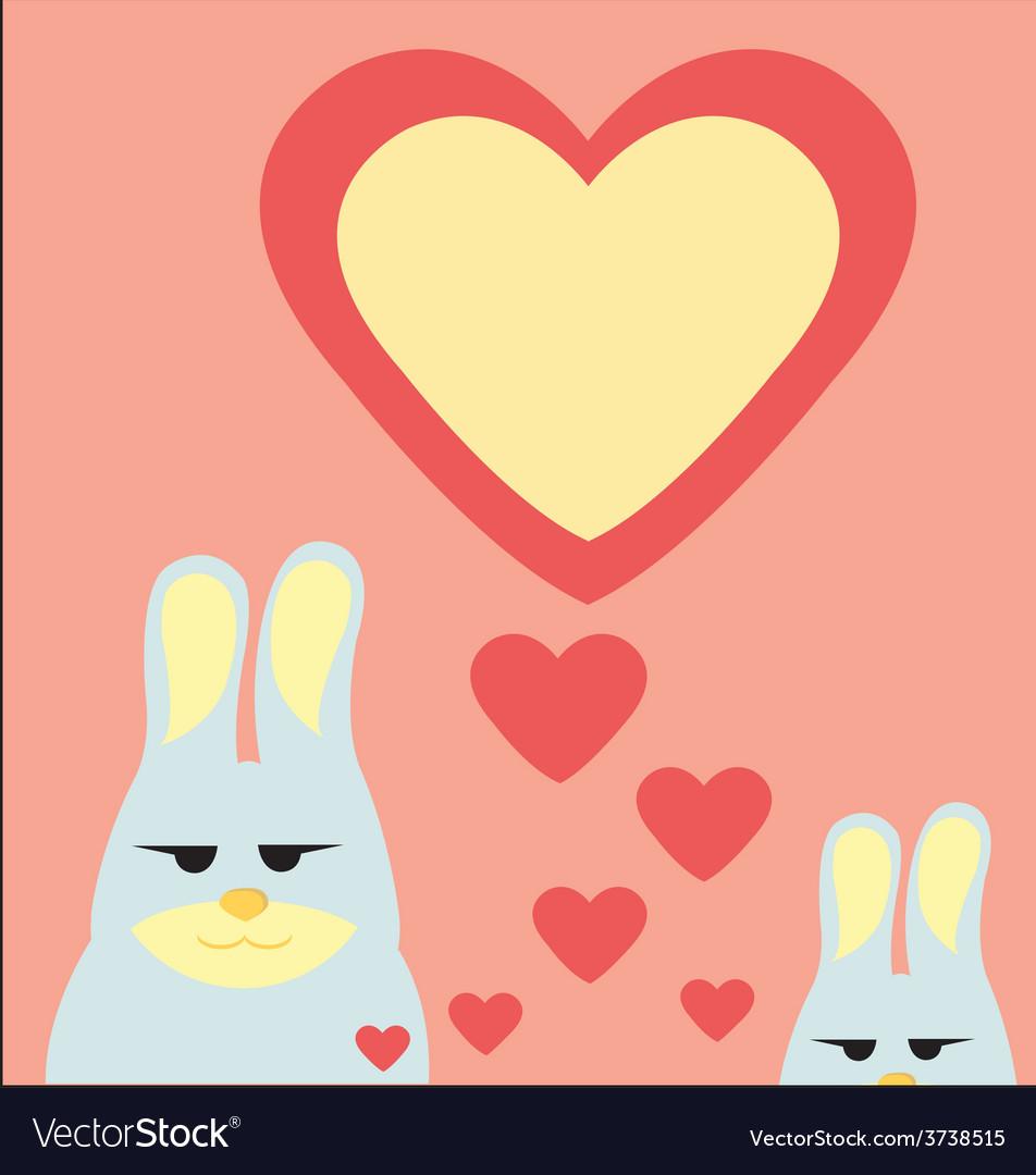 Rabbit in valentine vector   Price: 1 Credit (USD $1)