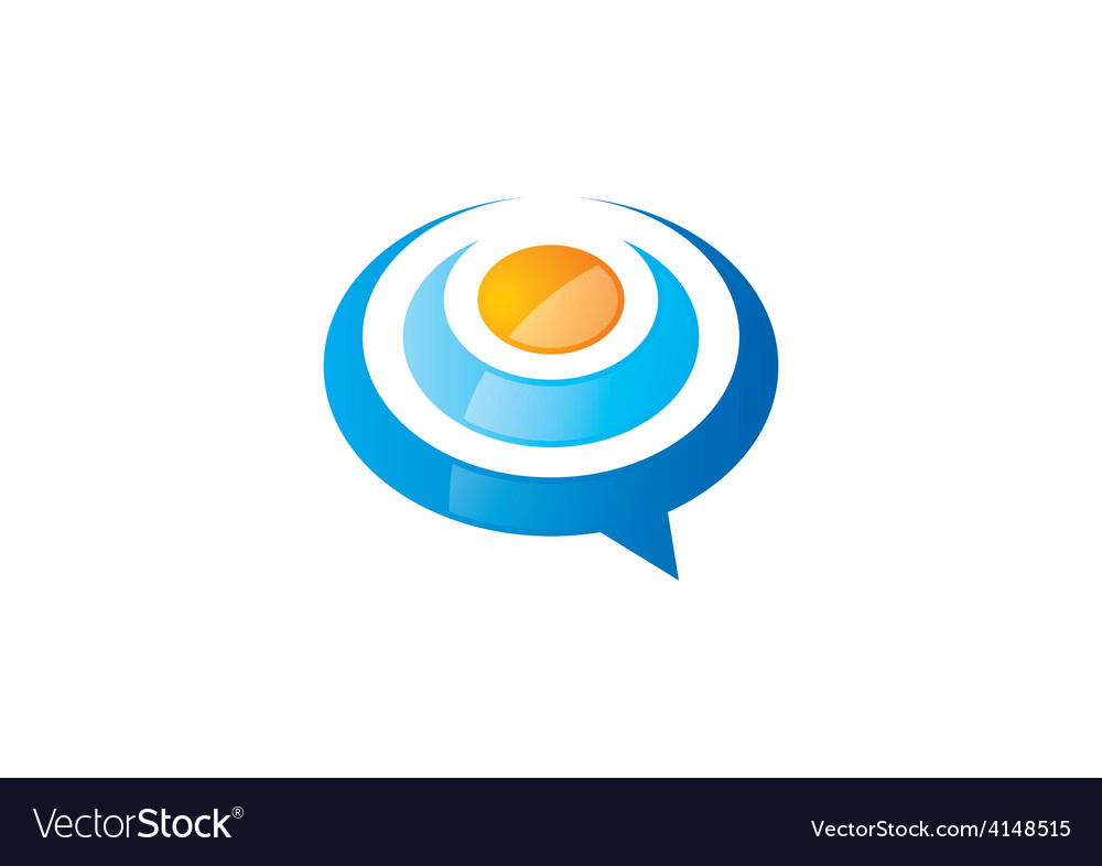 Talk bubble abstract logo vector | Price: 1 Credit (USD $1)