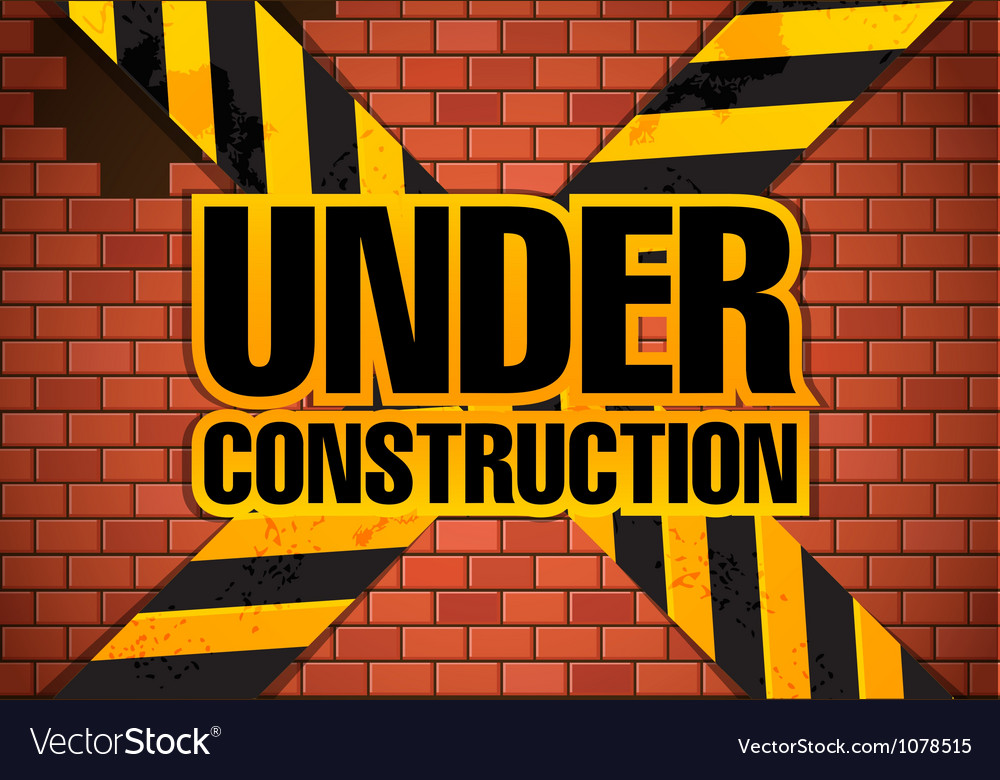 Under construction site template vector | Price: 1 Credit (USD $1)