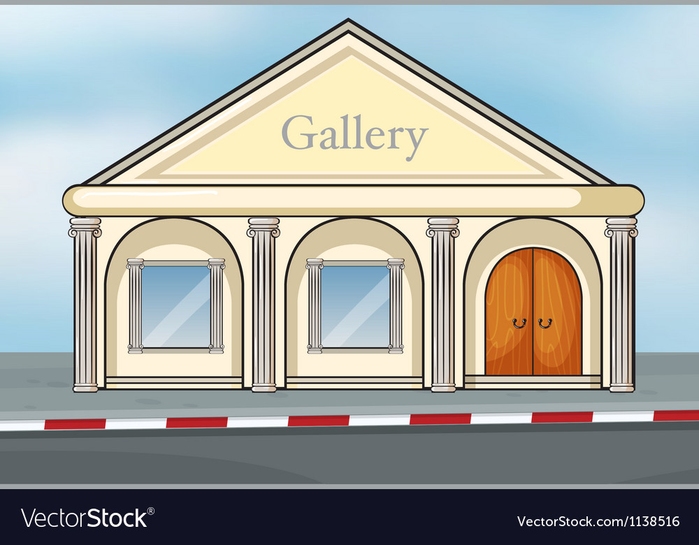 A gallery house vector | Price: 1 Credit (USD $1)