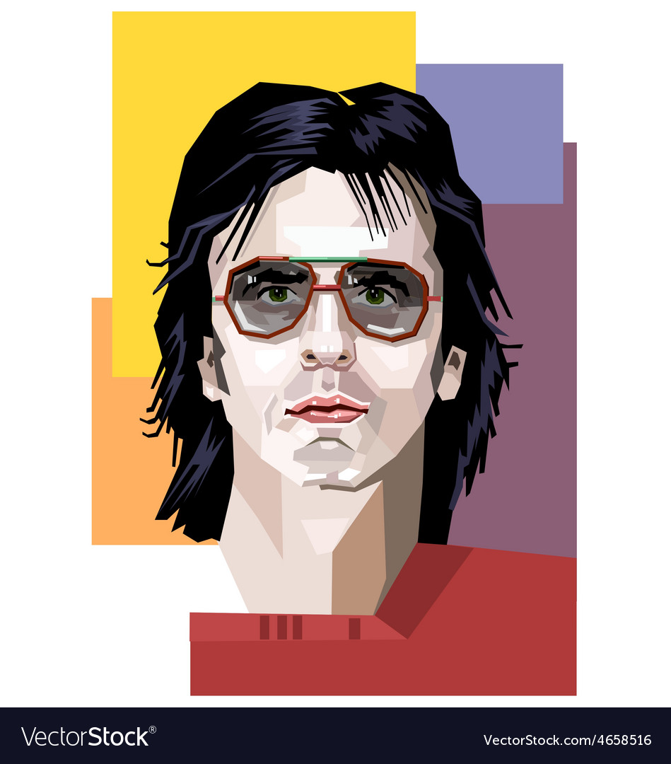A handsome man in sunglasses vector | Price: 1 Credit (USD $1)