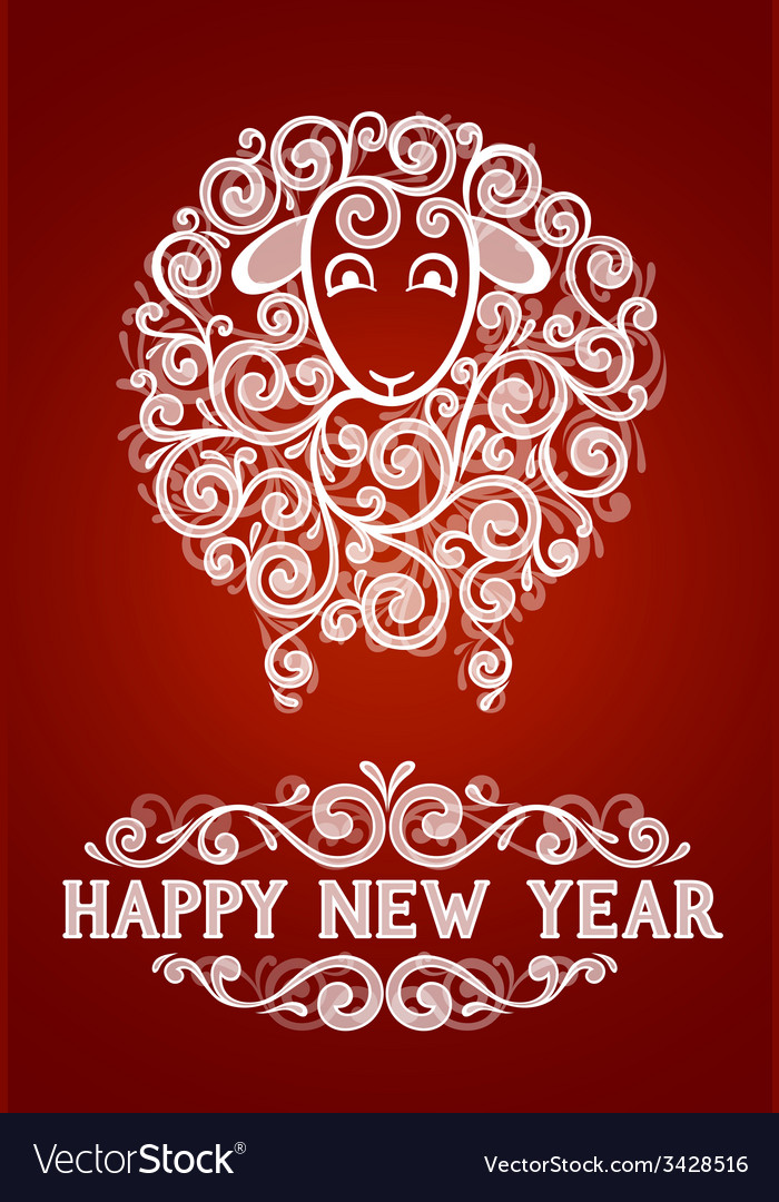 Abstract new year sheep vector | Price: 1 Credit (USD $1)