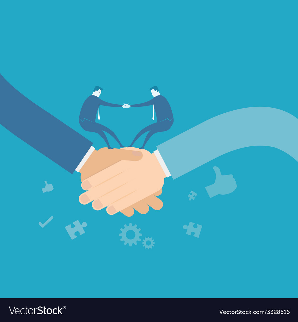 Business team shakehand vector | Price: 1 Credit (USD $1)
