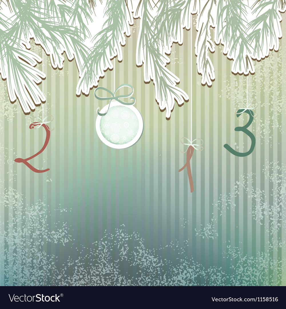 Christmas hand drawn fur tree design  eps8 vector | Price: 1 Credit (USD $1)