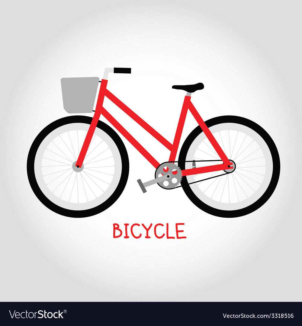Cruiser bicycle isolated vector | Price: 1 Credit (USD $1)