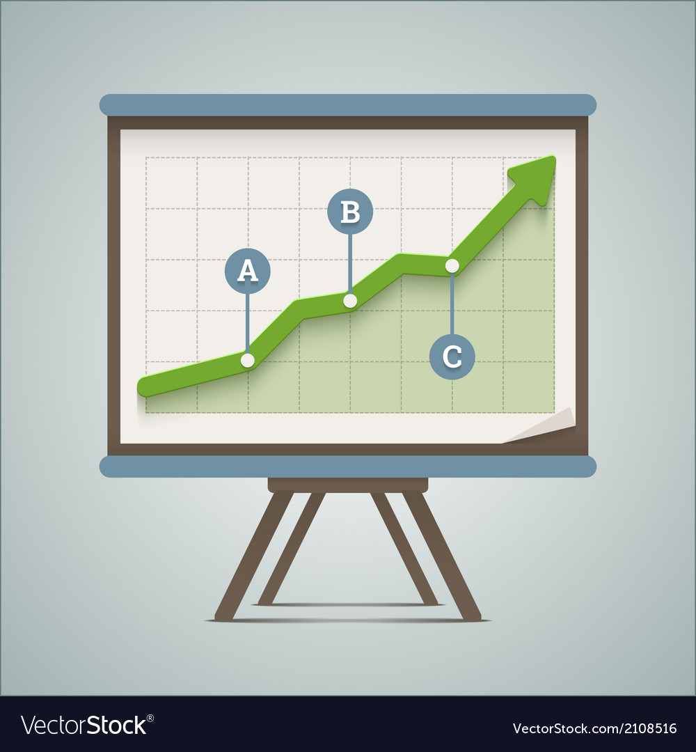 Growing chart presentation vector | Price: 1 Credit (USD $1)