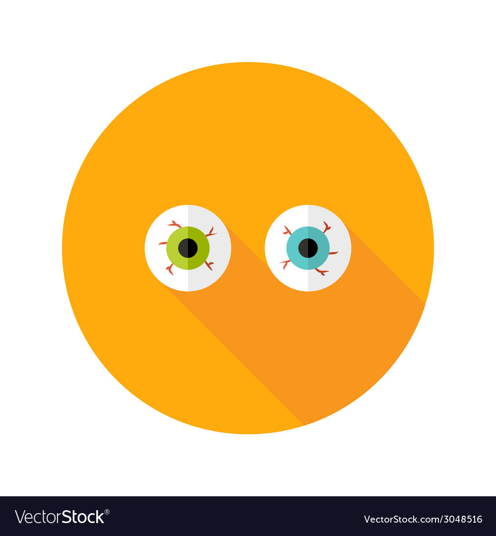 Halloween eyeballs flat icon vector | Price: 1 Credit (USD $1)