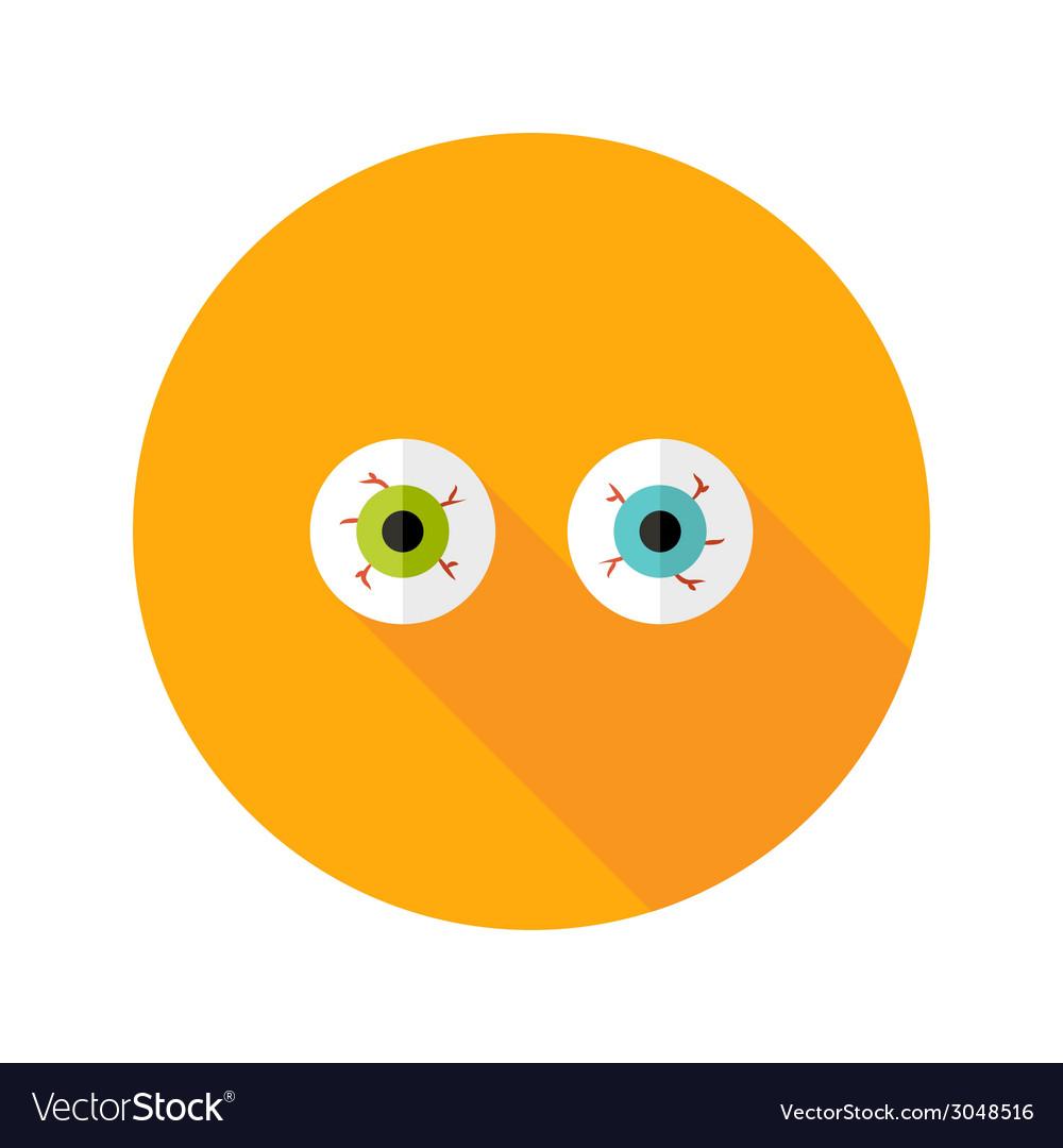Halloween eyeballs flat icon vector | Price: 1 Credit (USD $1)