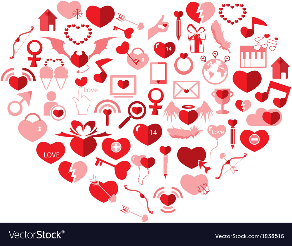 The heart valentines day love icon vector | Price: 1 Credit (USD $1)