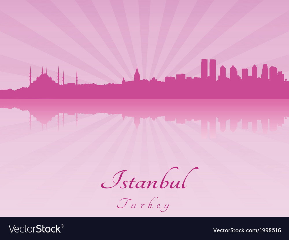 Istanbul skyline in purple radiant orchid vector | Price: 1 Credit (USD $1)