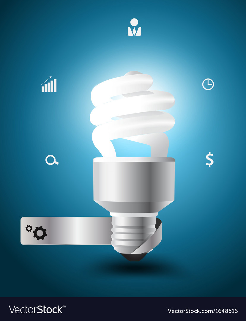 Light bulb idea concept with business icons vector | Price: 1 Credit (USD $1)