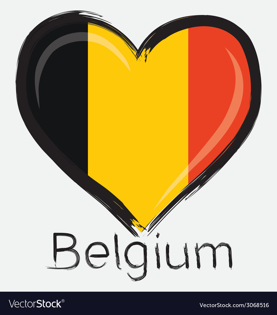 Love belgium flag vector | Price: 1 Credit (USD $1)