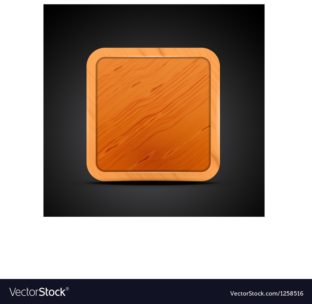 Mobile app icon - wood textured square blank vector | Price: 1 Credit (USD $1)