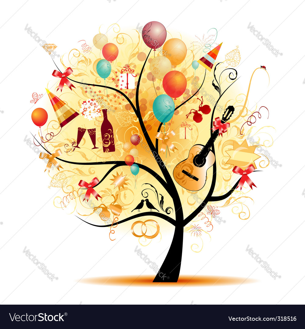 Party tree vector | Price: 1 Credit (USD $1)