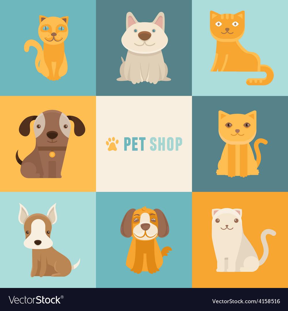 Pet shop logo design templates vector | Price: 1 Credit (USD $1)