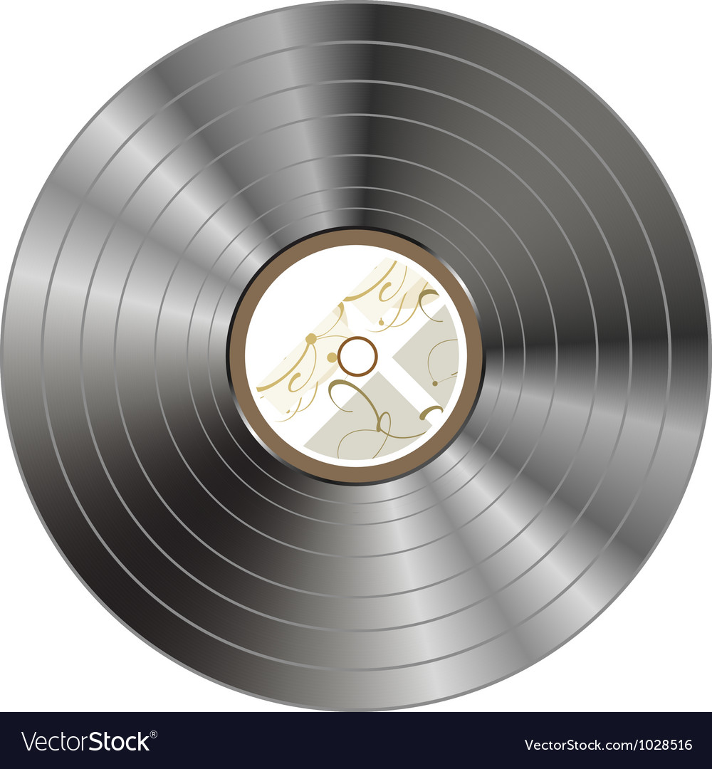 Retro vintage vinyl record isolated - vector | Price: 1 Credit (USD $1)