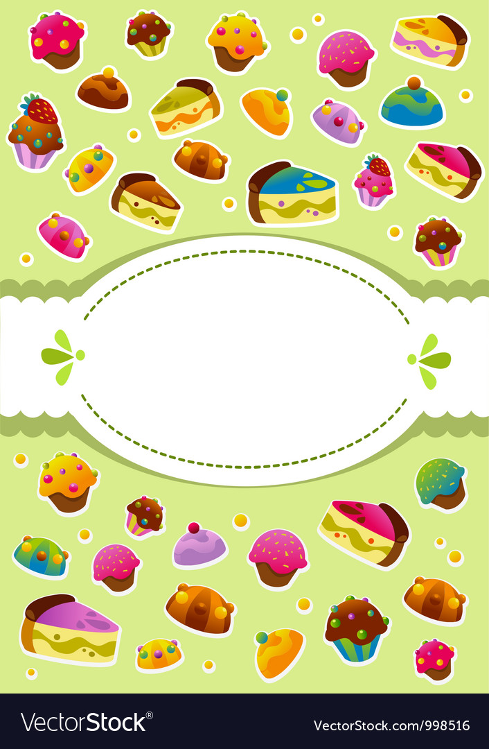 Sweet cover menu vector | Price: 1 Credit (USD $1)